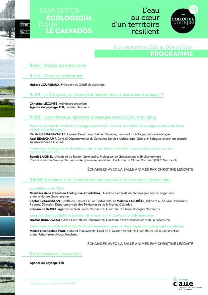 Intervention du Cabinet PAUL-AVOCATS dans le colloque  « Transition écologique dans le Calvados : L'eau au coeur d'un territoire résilient » organisé par le CAUE 14, sur le thème « L'outil que constitue le droit de l'environnement pour le développement de projets résilients : l'exemple de la trame bleue »